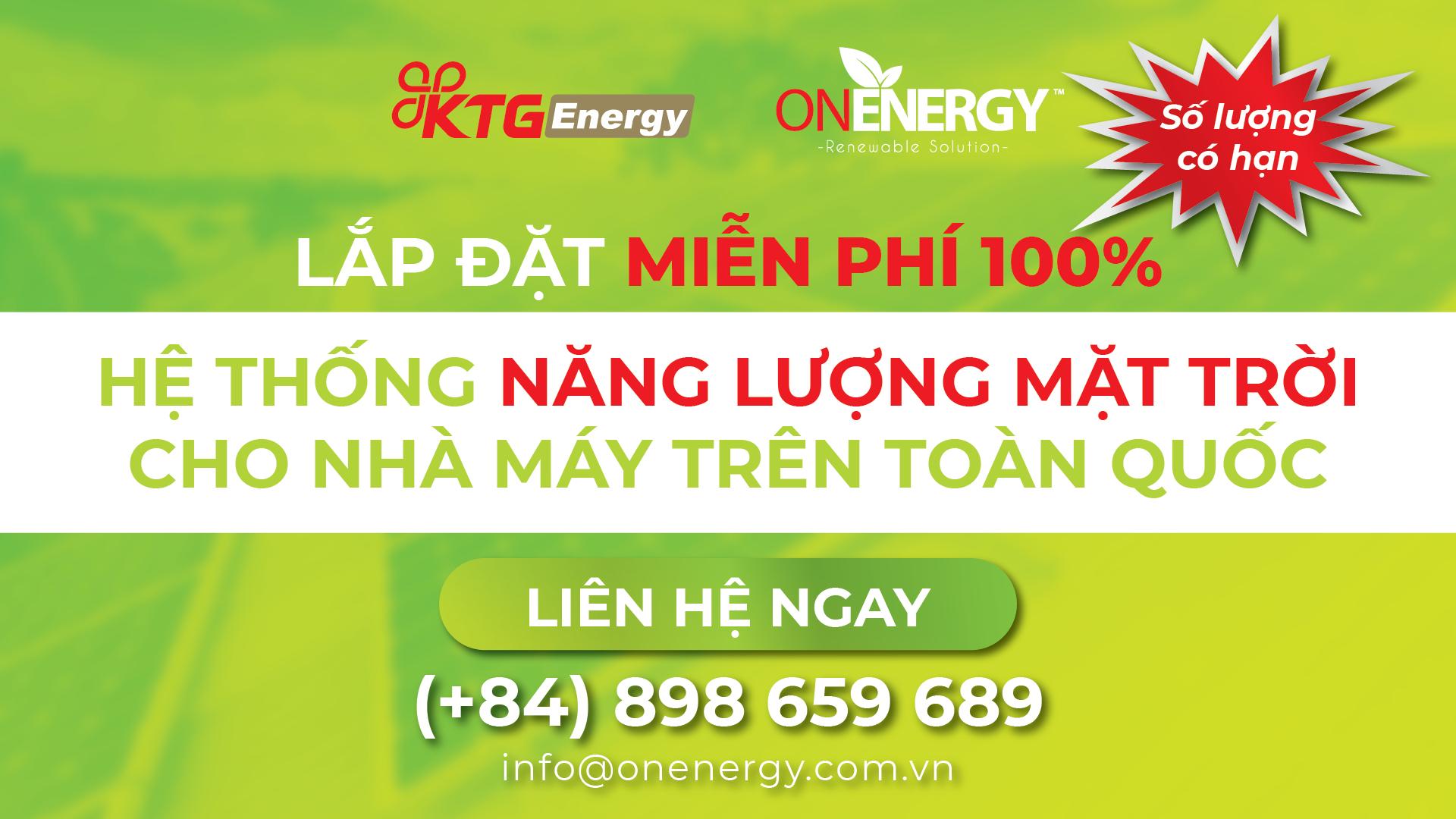 KTG Energy tư vấn lắp đặt miễn phí 100% hệ thống năng lượng mặt trời cho nhà máy trên toàn quốc