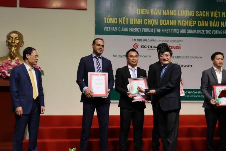 ON Energy nhận Chứng Nhận Doanh Nghiệp Năng Lượng Sạch Việt Nam triển vọng 2020