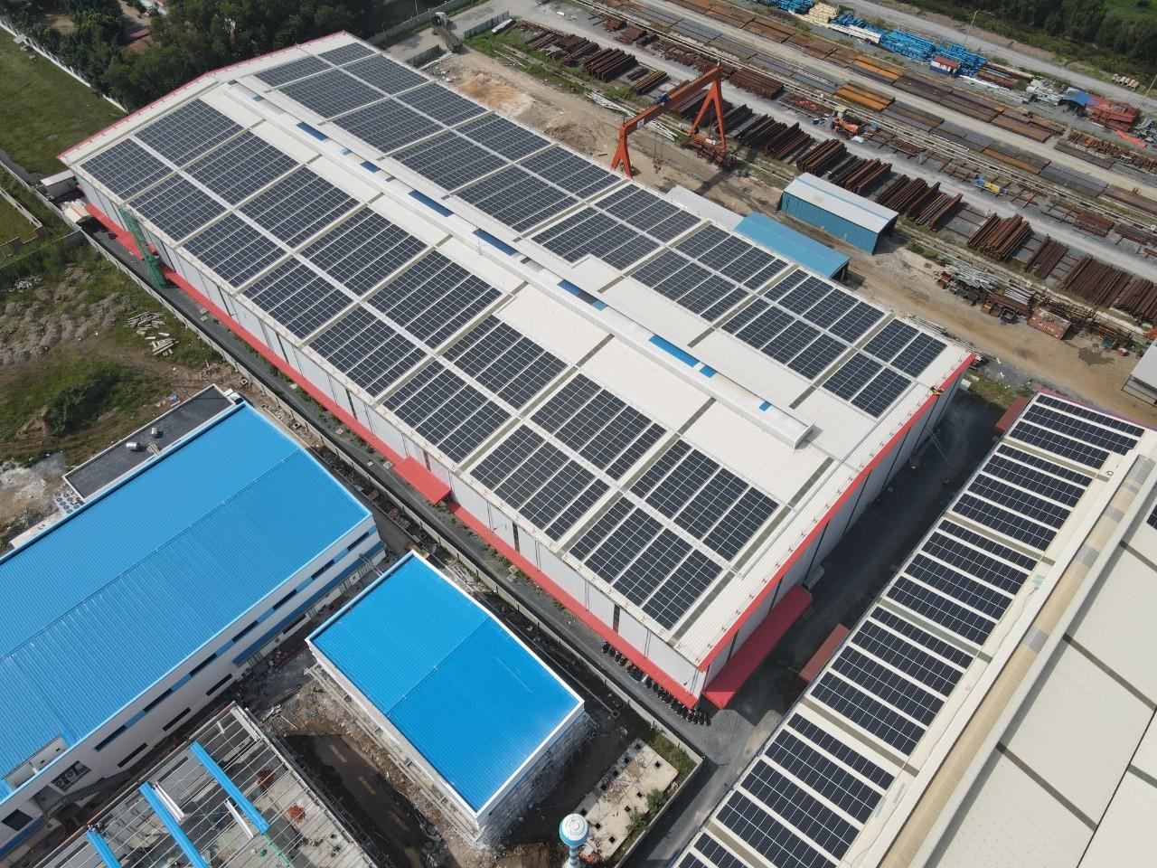 Dự án năng lượng mặt trời tại nhà Thép Trường Phúc