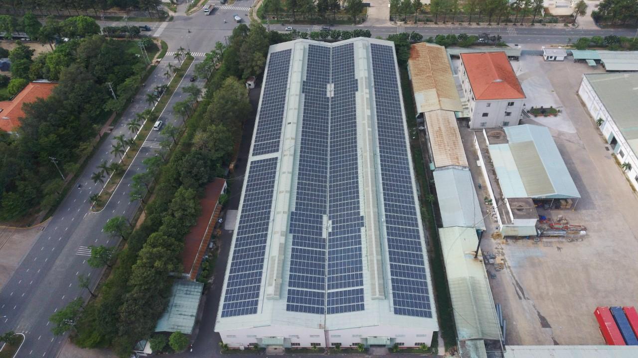 Hệ thống điện năng lượng mặt trời tại Tam Phước B