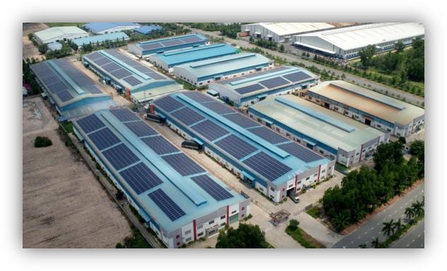 Hệ thống điện năng lượng mặt trời tại KCN Nhơn Trạch 5
