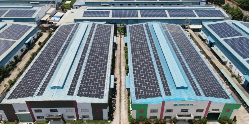 Dự án năng lượng mặt trời tại Dệt May Nhơn Trạch